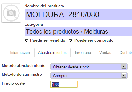Sales prices Odoo test