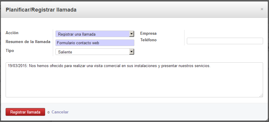 screenshot odoo