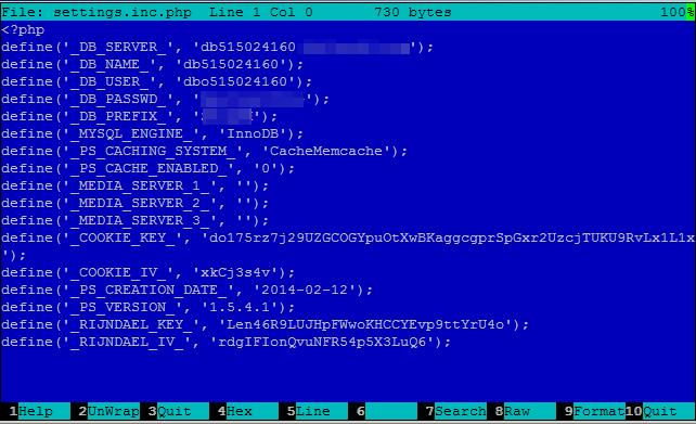 settings.inc.php database