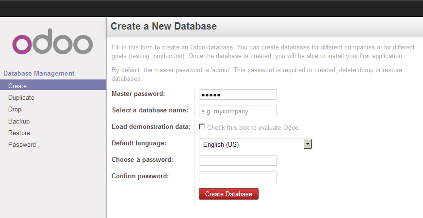 first access create database