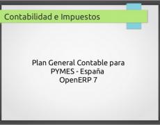 Contabilidad e impuestos con OpenERP 7