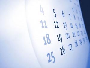 Calendario fecha limite