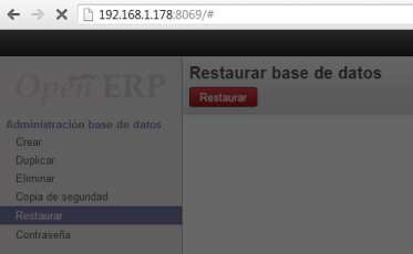 restaurar base de datos openerp